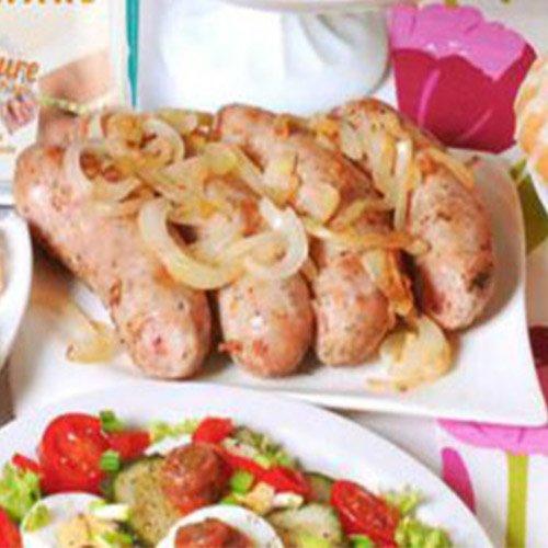 Bratwurst mit Kohlgemüse zum Oster-Brunch