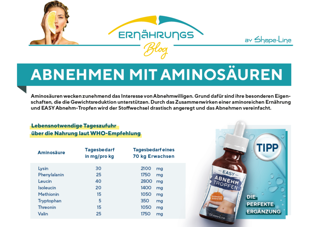 abnehmen mit Aminosäuren